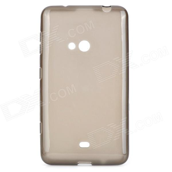 Simple Plain TPU Back Case for Nokia 625 - Translucent Grey