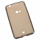 H Shape Protective  TPU Back Case for Nokia 625 - Grey