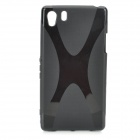 H Shape Protective TPU Back Case for Sony xperia il - Black
