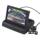 "4.3"" Foldable Vehicle-Mounted Display + Waterproof Camera / 4-IR LED - Black"