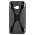 Protective TPU Back Case for HTC One 802W - Black