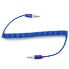 JD 014 3.5mm Male to Male Car Audio Connection AUX Spring Cable - Blue