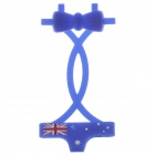 Orignal Union Flag Underwear Suit Style Silicone Adornment for Iphone 4 / 4S / 5 - Deep Blue