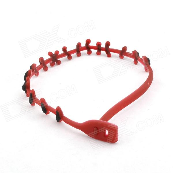 Blood Stitch Choker Necklace Special Effects - Red