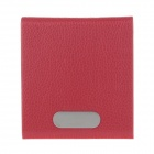 Stylish Lichee Pattern Portable Cigarette Case / Card Holder - Red (Holds 14 PCS)