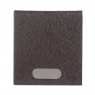 Stylish PU Leather + Aluminum Alloy Portable Cigarette Case / Card Holder - Brown (Holds 14 PCS)