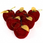 Christmas Polyfoam Apples - Red + golden (6 PCS)