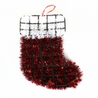 Christmas Socks Style Christmas Madder Wall Decoration - Black + White + Red