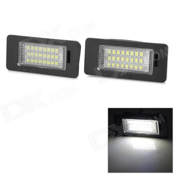 LPL-AUDI-Q5 5w 160lm 6500k White Light 3528 SMD LED License Plate Lamp for Audi Car - Black (2 PCS) консервы четвероногий гурман мясное ассорти с перепёлкой для собак 100г