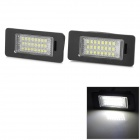 LPL-AUDI-Q5 5w 160lm 6500k White Light 3528 SMD LED License Plate Lamp for Audi Car - Black (2 PCS)