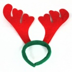 Christmas Simple Antlers Style Headdress - Red + Green