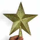 Star Style Christmas Top Tree Decorative Pendant - Golden