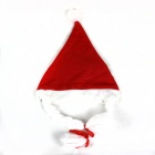 Braids Christmas Hat - White + Red