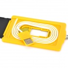 Universal 3mm Thick Card Style USB Male to Micro USB Male Data Sync & Charging Cable for Samsung