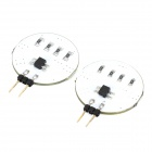 G4 2.4W 200lm 6500K 12-5050 SMD Cold White Strip