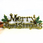 Christmas Tree Style Door Ornaments Merry Christmas Card - White + Red + Blue + Silver + Yellow
