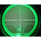 3-9x32E R & G Iluminado Rangefinder Scope para Rifle - Preto (1 x CR2032)