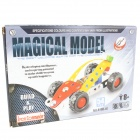 Iron Commander SM146754 Ferroalloy Assembled Formula One Racing Car - Silver + Yellow + Red