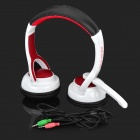 OVLENG S999 Cool Powerful 3.5mm Jack Wired Headset w/ Microphone for Laptop - White + Black + Red