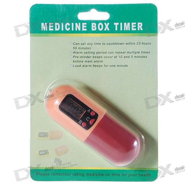 Digital Medicine Timing Reminder Box Keychain