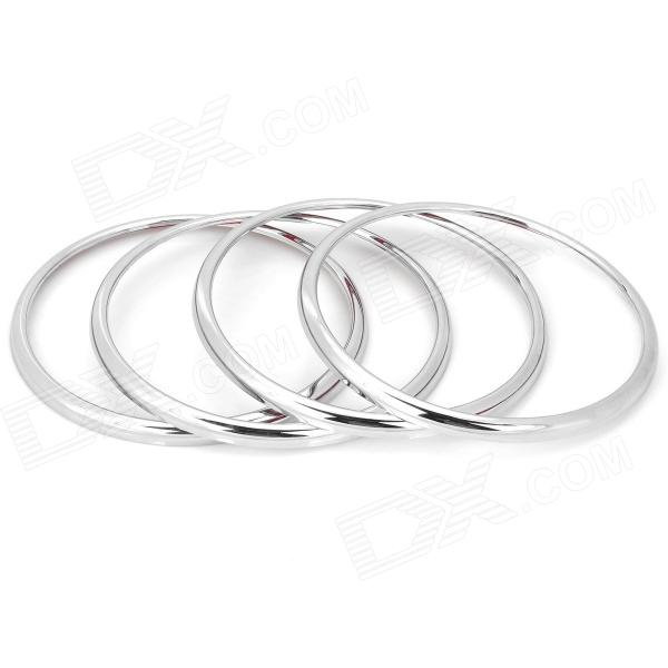 Fashionable DIY Plastic Sticker Ring for Cruz Car Speaker - Silver (4 PCS)