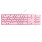 I-ROCKS 6402H Fashionable Super Thin 109-key Wired Keyboard - Pink