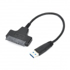 "2.5"" SATA to USB 3.0 Hard Disk Adapting Cable - Black (25cm)"