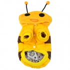 Bee Style Cotton Coat / Hoody for Pet Dog - Yellow + Brown + Black (M)