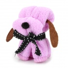 XG-01 Mini Cartoon Dog Style Cotton Towel - Purple + Black