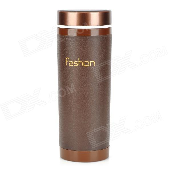 HZXD A327 Dual-layer Ceramic Tank Cup - Brown (350ml / BPA Free)