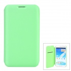Stylish Protective PU Leather Case for Samsung N7100 - Green