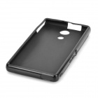 Stylish Protective TPU Back Case for Sony M36h - Black