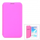 Stylish Protective PU Leather Case for Samsung N7100 - Deep Pink