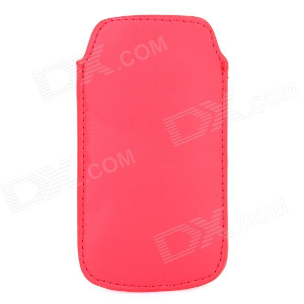 Protective PU Leather Pouch Bag for Samsung Galaxy S4 Mini i9190 - Red
