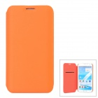 Stylish Protective PU Leather Case for Samsung N7100 - Orange