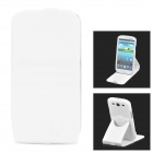 Protective 360 Degree Rotation ABS + Silicone Case for Samsung i9300 - White