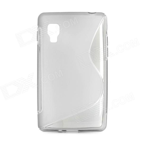 S Style Protective TPU Back Case for LG Optimus L4II E440 - Translucent Grey мобильный телефон ginzzu mb505 черный