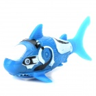 3333-1 Creative Waterproof Ecological Shark Toy - Blue + White + Black (LR44 battery)
