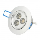 3W 150lm 3000K 3-LED Wiredrawing Ceiling Spotlight (85~265V)