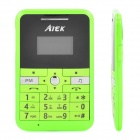 "AIEX MINI-V9 GSM Bar Phone w/ 1.0"" Screen, Quad-Band, FM and Bluetooth - Green"