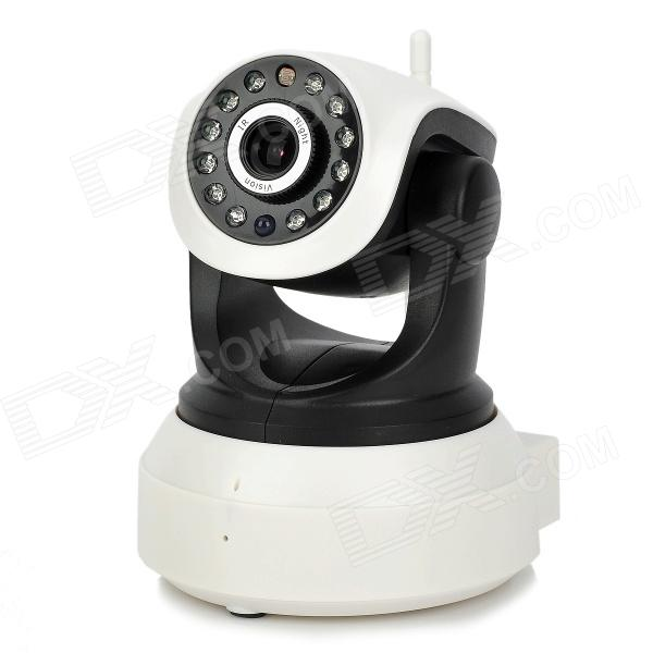 XXC5330-T P2P Wireless IP Network Camera w/ 12-IR LED - Black + White