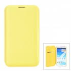 Stylish Protective PU Leather Case for Samsung N7100 - Yellow