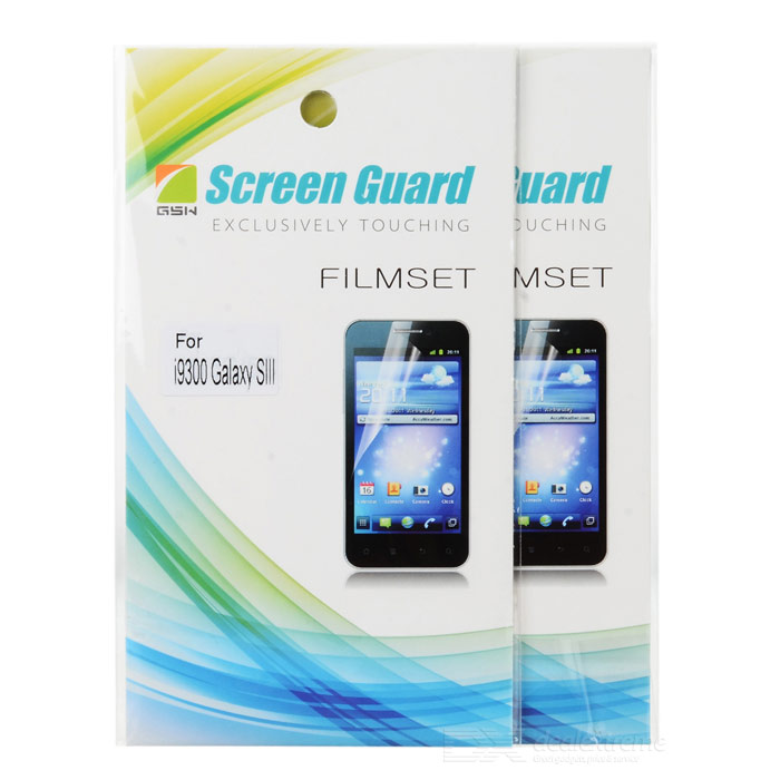 Protective Clear Screen Protector Film for Samsung Galaxy S3 i9300 - Transparent (2 PCS) protective matte frosted screen protector film guard for nokia lumia 900 transparent