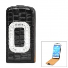 Stylish Protective Flip-Open PU Leather Case for Samsung Galaxy S4 i9500 - Black