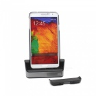 Portable Charging Docking Station w/ Battery Dock for Samsung Galaxy Note 3 N9000 / N9002 - Black