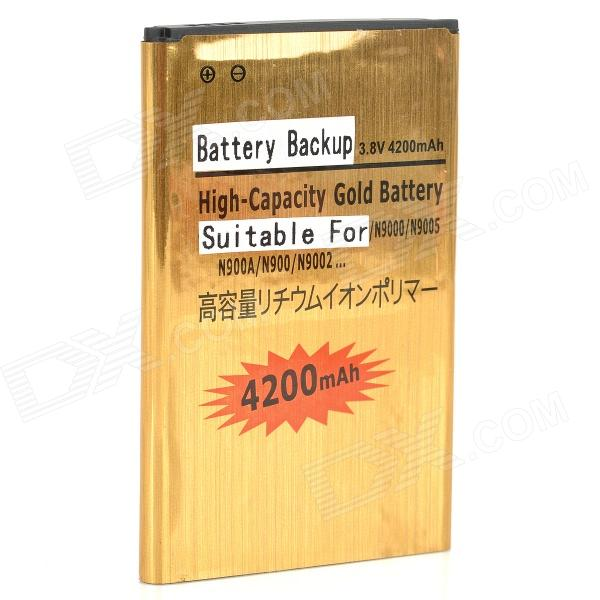Replacement 3.7V 4200mAh Li-ion Battery for Samsung Note 3 / N9000 / N9002 / N9005 + More - Golden