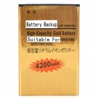 Replacement 3.8V 4200mAh Li-ion Battery for Samsung Note 3 / N9000 / N9002 / N9005 + More - Golden