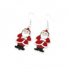 Santa Claus Style Zinc Alloy Women's Earrings - Multicolored (Pair)