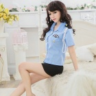 SW445 Sexy Women's Officer Clothes - Blue (Free Size)
