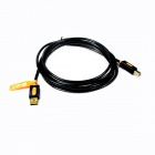 Jeway JCA-7403 USB 2.0 Gold Plated Connectors Speed Print Cable - Black + Orange (3m)